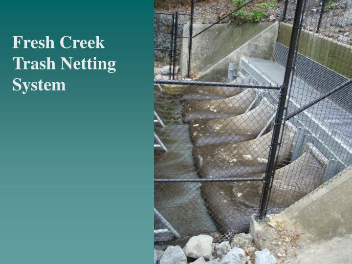 Fresh Creek Trash Netting System