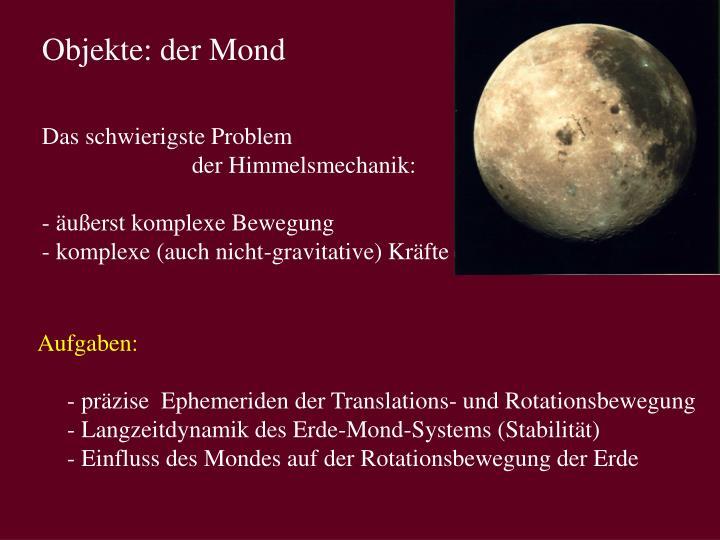 Objekte: der Mond
