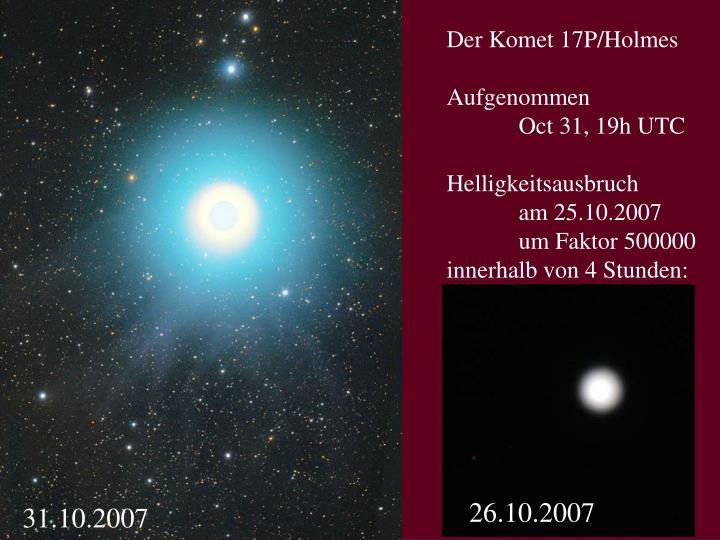 Der Komet 17P/Holmes