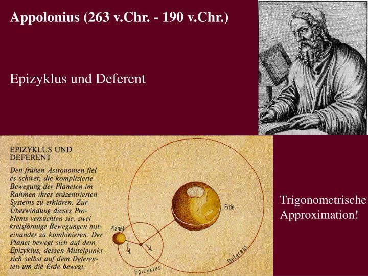 Appolonius (263 v.Chr. - 190 v.Chr.)