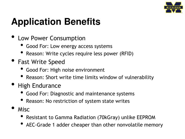 Application Benefits