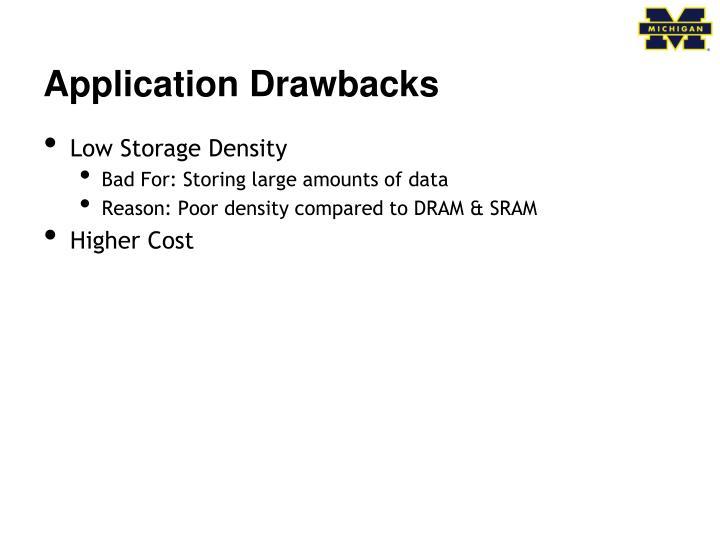 Application Drawbacks