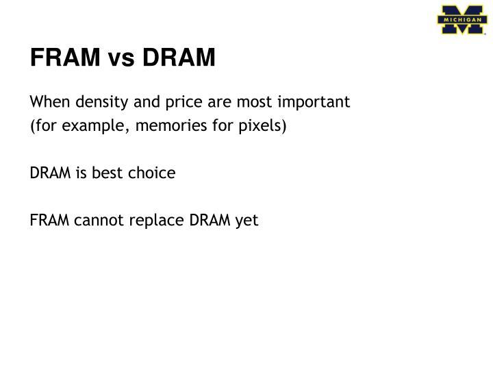 FRAM vs DRAM