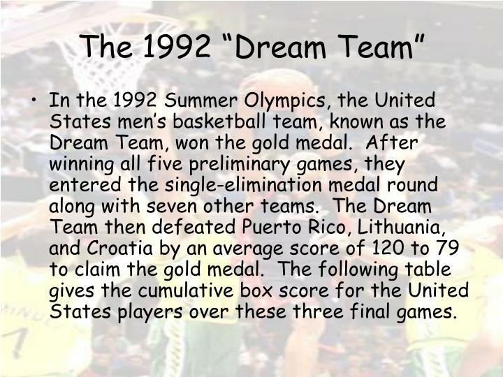 """The 1992 """"Dream Team"""""""