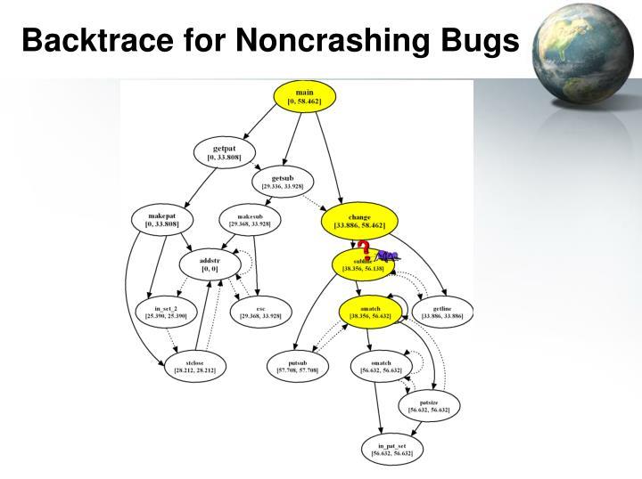 Backtrace for Noncrashing Bugs