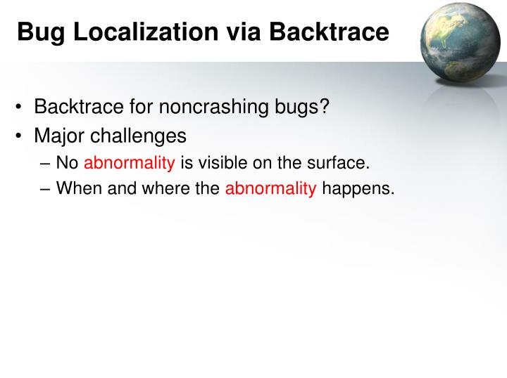 Bug Localization via Backtrace