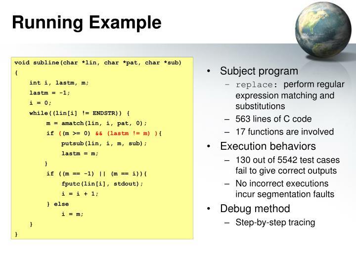 Running Example