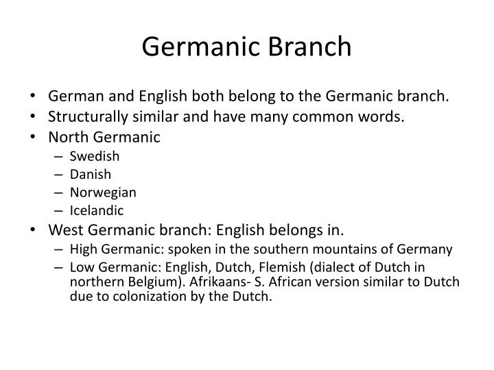 Germanic Branch