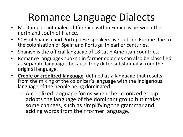 Romance Language Dialects