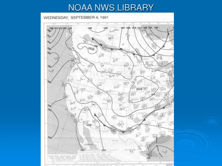 NOAA NWS LIBRARY