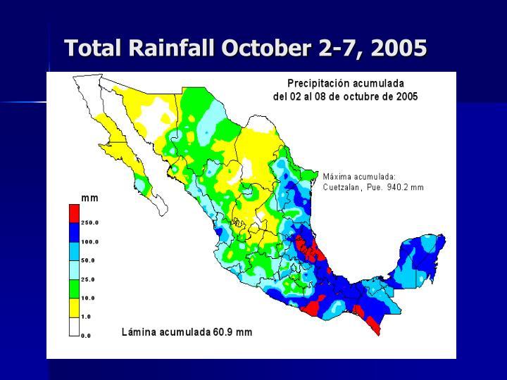 Total Rainfall October 2-7, 2005