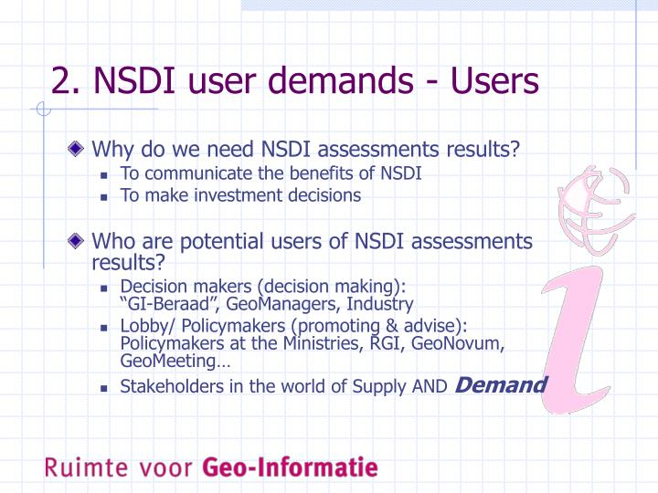 2. NSDI user demands - Users