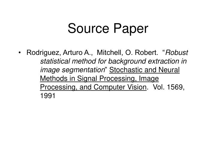 Source paper