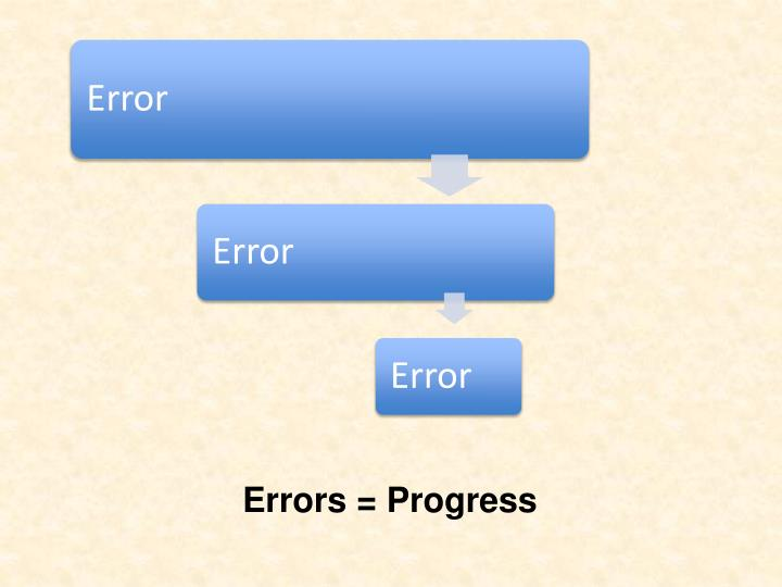 Errors = Progress