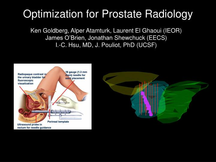 Optimization for Prostate Radiology