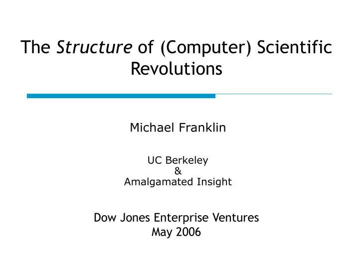 The structure of computer scientific revolutions