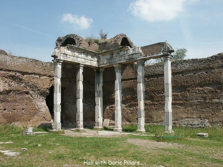 Hall with Doric Pillars