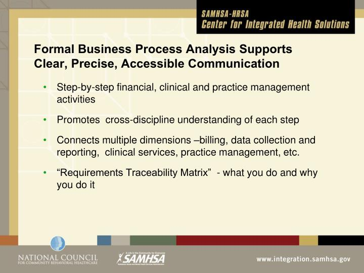 Formal Business Process Analysis Supports