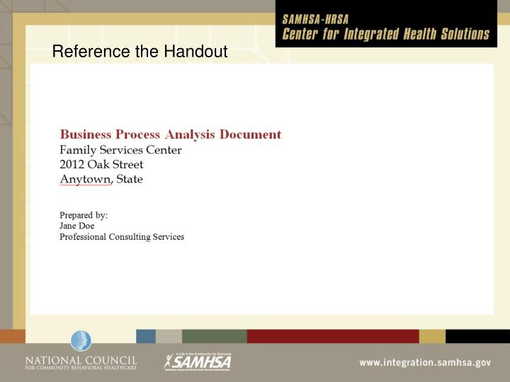 Reference the Handout