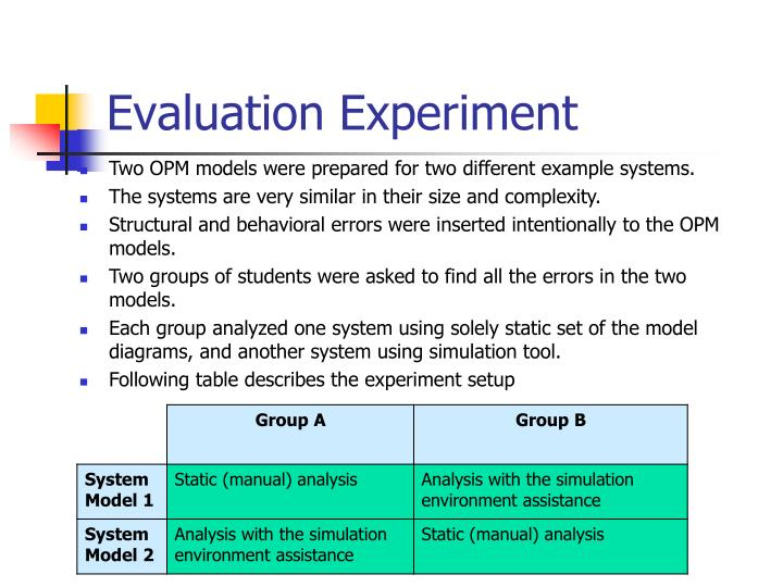 Evaluation Experiment
