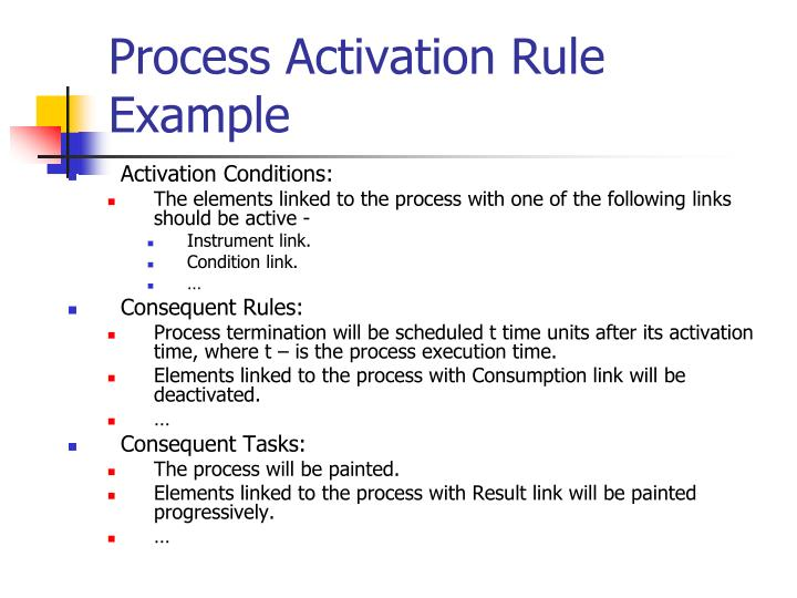 Process Activation Rule Example