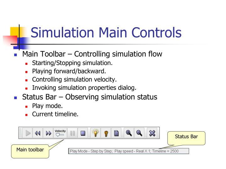 Simulation Main Controls