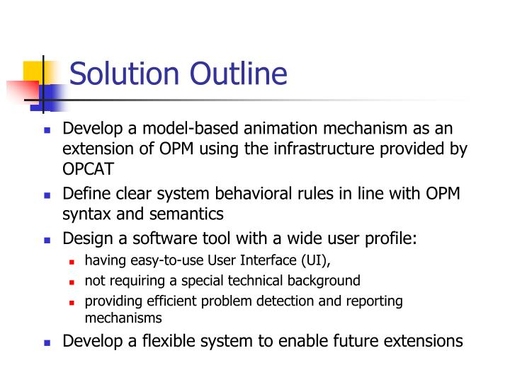 Solution Outline