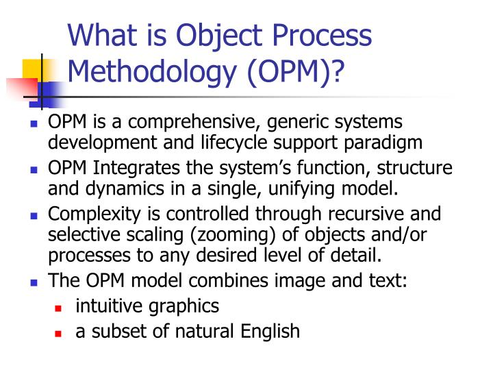 What is Object Process Methodology (OPM)?