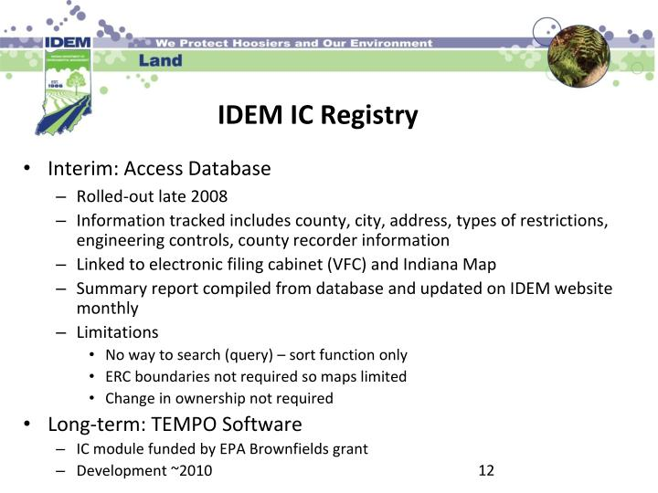 Interim: Access Database