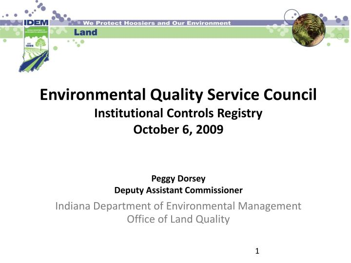 Environmental Quality Service Council