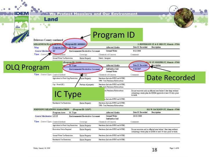 Program ID
