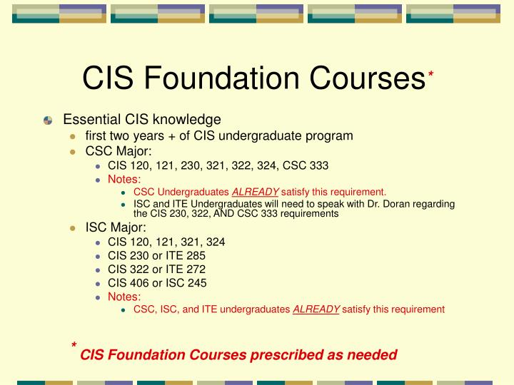 CIS Foundation Courses