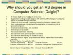 why should you get an ms degree in computer science daigle