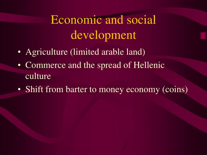 Economic and social development