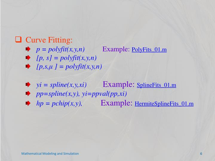 Curve Fitting: