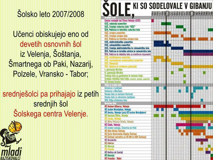 Šolsko leto 2007/2008