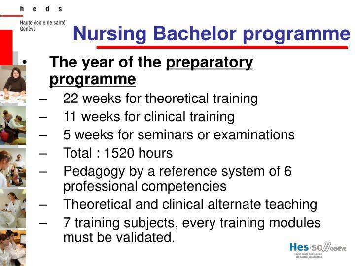 Nursing Bachelor programme