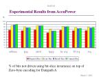 experimental results from accupower