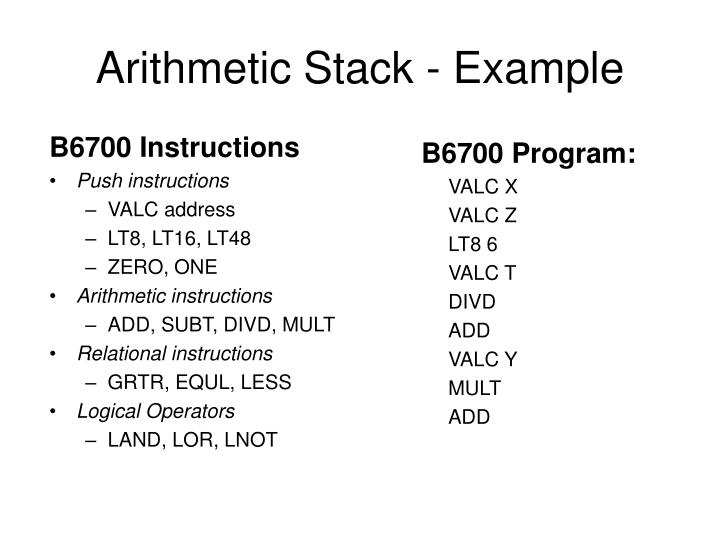 B6700 Instructions