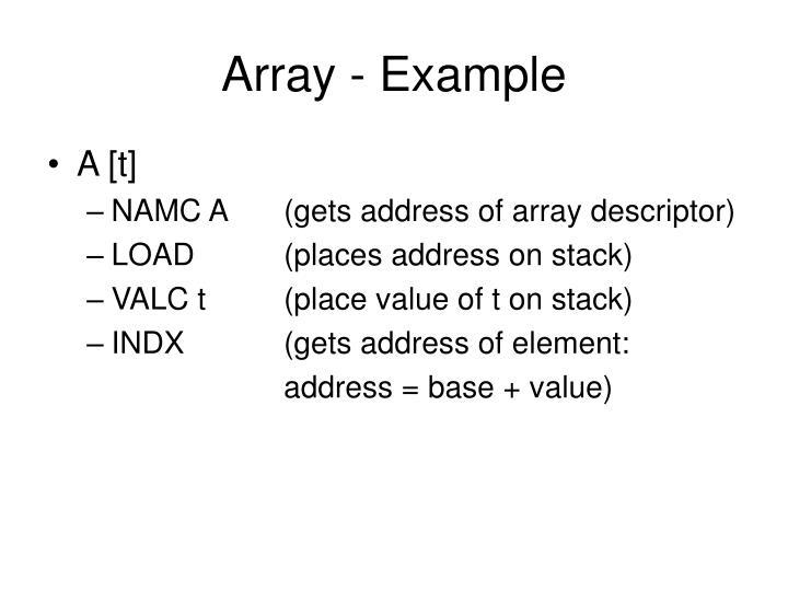 Array - Example