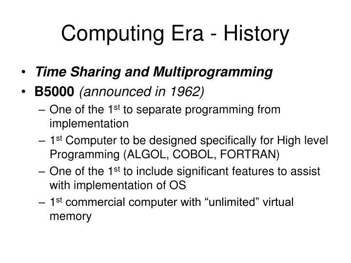 Computing Era - History
