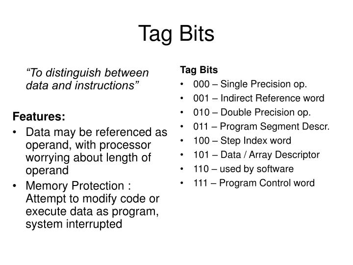 Tag Bits