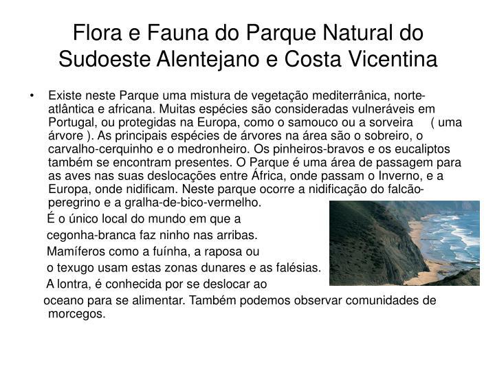 Flora e Fauna do Parque Natural do Sudoeste Alentejano e Costa Vicentina