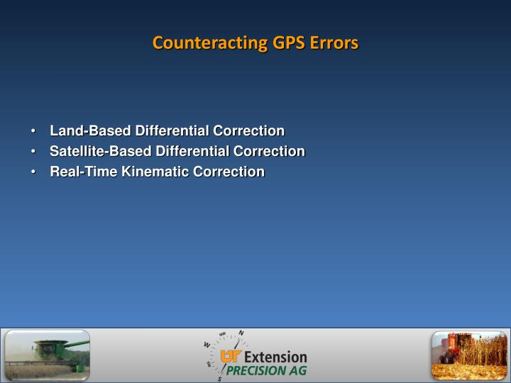 Counteracting GPS Errors