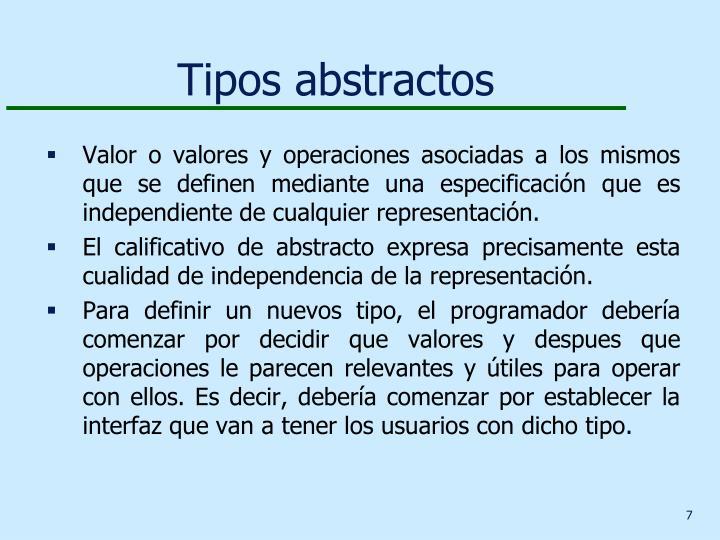 Tipos abstractos