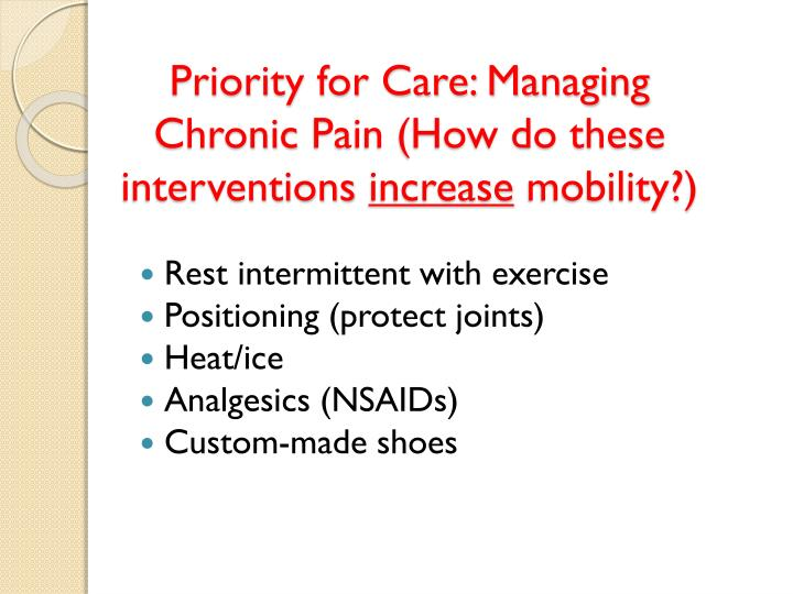 Priority for Care: Managing Chronic