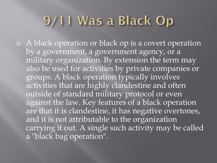 9/11 Was a Black Op
