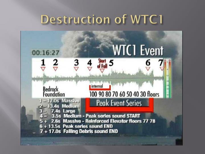 Destruction of WTC1
