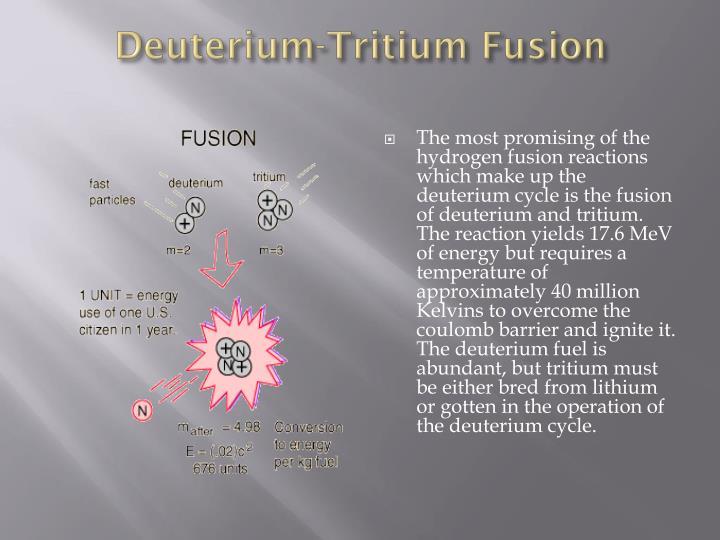 Deuterium-Tritium Fusion