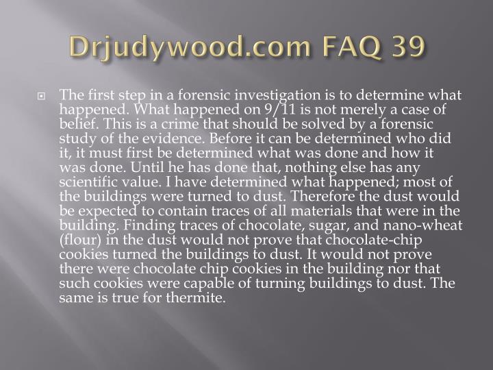 Drjudywood.com FAQ 39